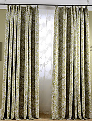 Country Curtains® Blackout Printing Flower Two Color Curtains Drapes Two Panel