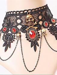 Hot Sell Vintage Lace Black Diamond Necklace