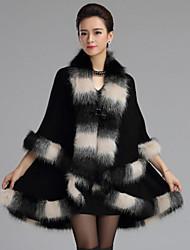 Women Fox Fur Shawl & Wrap , Without Lining
