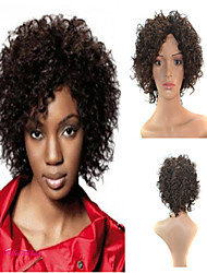 Capless High Quality Synthetic Black  Short Curly Hair Wigs