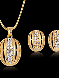 May Polly  Hot new Fashion Circle Necklace Earrings Set