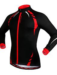 WOSAWE Fahrradjacke Unisex Fahhrad Trikot/Radtrikot Jacke Oberteilewarm halten Windundurchlässig Fleece Innenfutter Reflexstreiffen