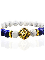 Women Men Fashion Bracelet Pulseras Mujer Black Lava Stone Lion Beads Bracelet