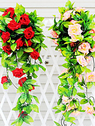Silk / Plastic / Rattan Roses Artificial Flowers