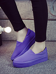 Women's Shoes Canvas Platform Creepers / Round Toe Loafers / Slip-on Outdoor / Casual Black / Yellow / Purple / Red