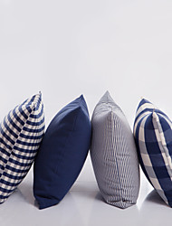 Blue Plaid  Pillow With Insert