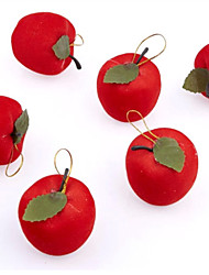 THREE  Christmas  Christmas Eve Fruit Apple Six A One Sets