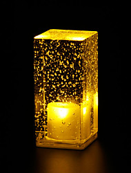 Coffee Shop Decoration Table Lamp Table Lamp Luminous Crystal Bubbles Bar LED Light  L6.5*W6.5*H13.5CM 0.5W