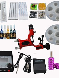 Dragonfly Tattoo Machine Kit Digital Power Supply/ Rotary / 20 Needles/ Tips/ Inks Supply
