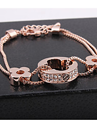 Fashion Crystal Clover Bracelet Bangle