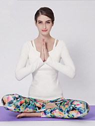 2015 New Yoga Wear Long Sleeve Two Suit Female Yoga Fitness Clothing Fashion Pants