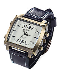 Men Watches Genuine Leather Band Leisure Watch Vintage Wrist Watch Quartz Watches(Assorted Colors) Cool Watch Unique Watch
