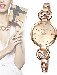 YAQIN® Brand Rhinestone Bracelet Watches Women Gold & Silver Band Ladies Fashion Quartz Watch Clock Cool Watches Unique Watches