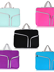 ASLING Double Pocket Zip Bag Laptop Bag For Macbook 12""