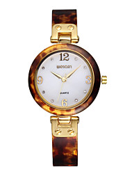 Weiqin® Arcuated Hardlex Shell Rhinestone Yellow Gold Quartz Watches with Folding Clasp Cool Watches Unique Watches