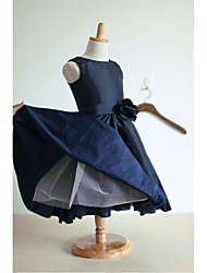 A-line Tea-length Flower Girl Dress - Taffeta