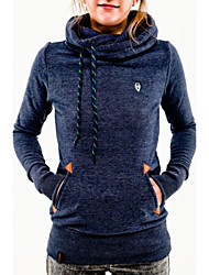 Women's Stylish Pocket Design Embroidered Hoodie