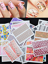 50PCS  Mixed Water Transfer Stickers