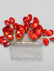 Women's Flower Girl's Rhinestone Alloy Headpiece-Wedding Special Occasion Hair Combs 1 Piece