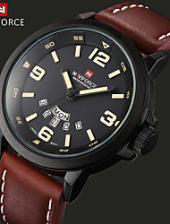NAVIFORCE® Luxury Brand Men Quartz Analog Clock Leather Clock Sports Military Watches(Assorted Colors)