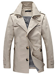 Men's Tailored Collar Coats & Jackets Plus Size, Cotton Long Sleeve Casual / Work Fashion Winter Wshgyy