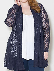 Women's Lace Blue / Red Wrap , Off Shoulder Long Sleeve