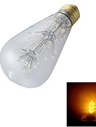 3W E26/E27 Ampoules Globe LED ST64 47 LED Dip 130 lm Blanc Chaud Décorative AC 100-240 V 1 pièce