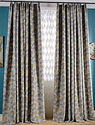 Blackout Printing Flower Two Color Curtains Drapes Two Panel