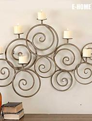 e-FOYER mur d'art de mur en métal décor, anneau d'or chandelier décoration murale un pcs