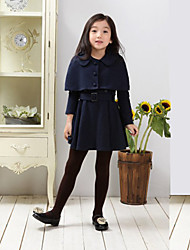 Girl's Blue / Red Dress , Dresswear Cotton Blend Spring / Fall