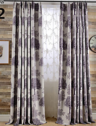 Blackout Printing Tree Two Color Curtain Two Panel Curtains Drapes