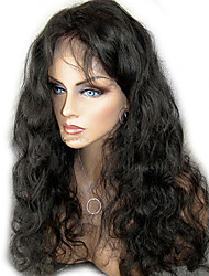 "Unprocessed 10""-24"" Virgin Brazilian Hair Natural Color Body Wave 130% Density Full Lace Wig/Lace Front Wig"
