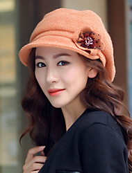 Women Fashion Inlaid Flowers Hats