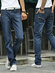 Straight men jeans trousers Men's clothing paragraphs thin han edition tide male leisure trousers
