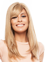 Stylish Long Straight Human Hair Hand Tied -TOP Virgin Remy Woman's Capless Wig