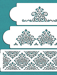 Elaine's Cake Stencil Set , Spray Paint Stencils, Cake Decorating Stencil, Cake Lace Side Plastic Stencil Set,ST-276