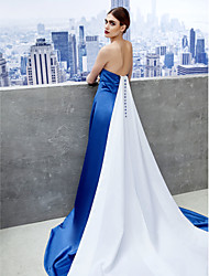 TS Couture Formal Evening Dress - Ivanka Style Celebrity Style A-line Sweetheart Chapel Train Satin with Pleats