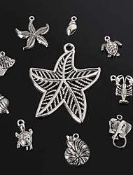beadia antiek zilver metaal hanger hangers schelp zeester&mantarog&schildpad hanger 10 stijlen