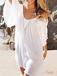 Women's White Ruffled Sundress Beachwear