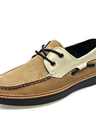 Men's Shoes Office & Career / Party & Evening / Casual Suede Boat Shoes Blue / Gray / Khaki