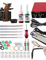 ITATOO® Tattoo New Tattoo Set with Pro 1 Machine and 2 Bottles Ink 5ml Tattoo Machine Kit with Ink