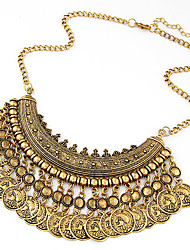 Women's Statement Necklaces Alloy Fashion Gold Black Silver Jewelry Special Occasion Birthday Gift