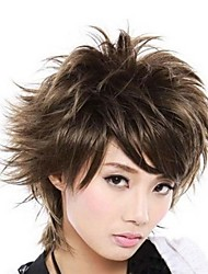Turn Up Brown Fashion Wig Anime COS Show a Light Brown