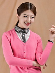 Fashion Women`s Lace Fabric Cotton Collar Crystal Clip Decoration Cravat & Ascot Joker Daily/Casual