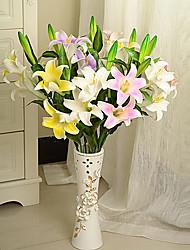 8 Stück pu Lilien künstliche Blumen