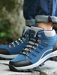 2017 New Arrivals Hiking Shoes Men's  Leather Blue / Green