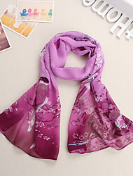 Women Chiffon Scarf,Vintage / Cute / Party / Work / Casual