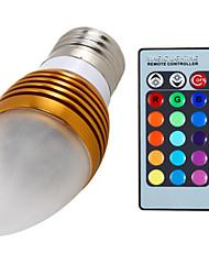 5W E26/E27 LED Kerzen-Glühbirnen A60(A19) 3 Integriertes LED 400 lm RGB Dimmbar / Ferngesteuert / Dekorativ AC 85-265 V 1 Stück