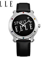 ms de moda em couro relógio de quartzo correia de pulso à prova d'água moda relógio relógio feminino