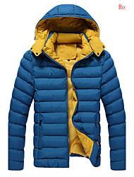 Men's Stand Coats & Jackets , Cotton / Cotton Blend Long Sleeve Casual Fashion Winter HKTF